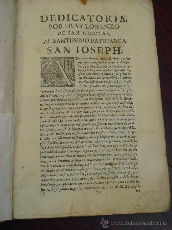 Libros antiguos: ARTE Y USO DE LA ARQUITECTURA, 1736, 2 Vol.,Lorenzo de San Nicolas y dirigido al Patriarcha San Jose - Foto 3 - 33219969