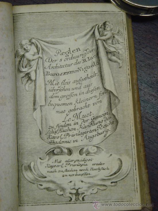 Libros antiguos: NEUE AUSGABE DER LEHRE VON DEN SÄULENORDNUNGEN, 1787, M. Jacob Barozzio v. Vignola - Foto 3 - 33290375