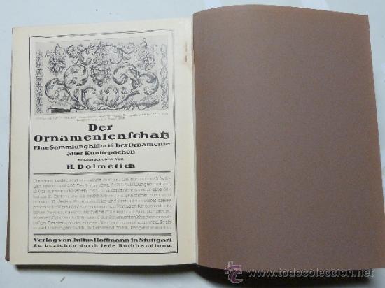 Libros antiguos: DEUTSCHE WOHN UND FESTRÄUME - R. C. H. BAER - 1912 - DECORACIÓN Y MUEBLES ALEMANES - Foto 10 - 34082611