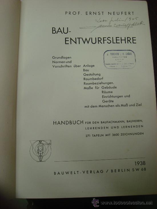 Libros antiguos: Bau-Entwurfslehre 1938 - Foto 5 - 32169048