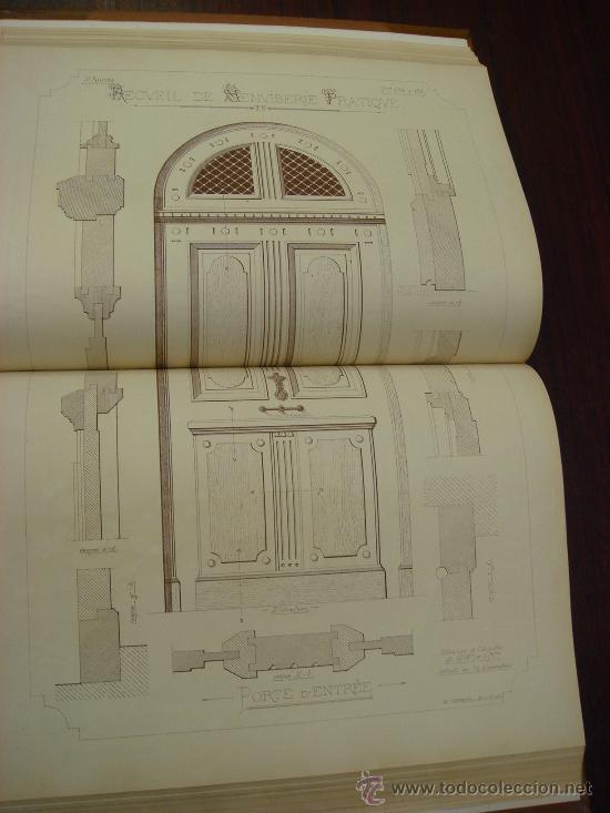Libros antiguos: RECUEIL DE MENUISERIE PRATIQUE, Manual Practico de Carpinteria,1881?. Años 1º a 6º y del 6º al 11º. - Foto 4 - 34614996