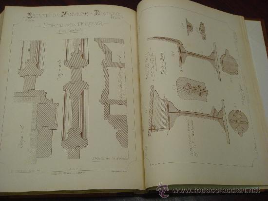 Libros antiguos: RECUEIL DE MENUISERIE PRATIQUE, Manual Practico de Carpinteria,1881?. Años 1º a 6º y del 6º al 11º. - Foto 14 - 34614996