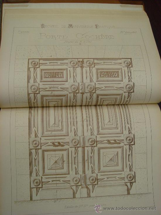 Libros antiguos: RECUEIL DE MENUISERIE PRATIQUE, Manual Practico de Carpinteria,1881?. Años 1º a 6º y del 6º al 11º. - Foto 20 - 34614996