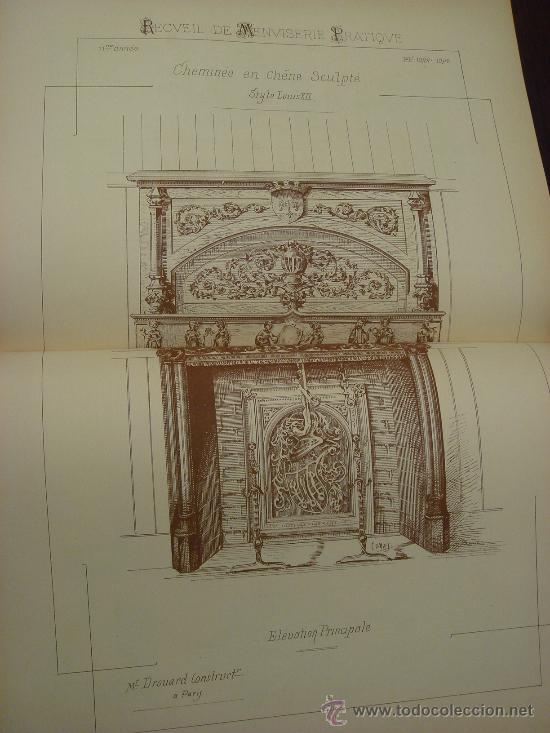 Libros antiguos: RECUEIL DE MENUISERIE PRATIQUE, Manual Practico de Carpinteria,1881?. Años 1º a 6º y del 6º al 11º. - Foto 31 - 34614996