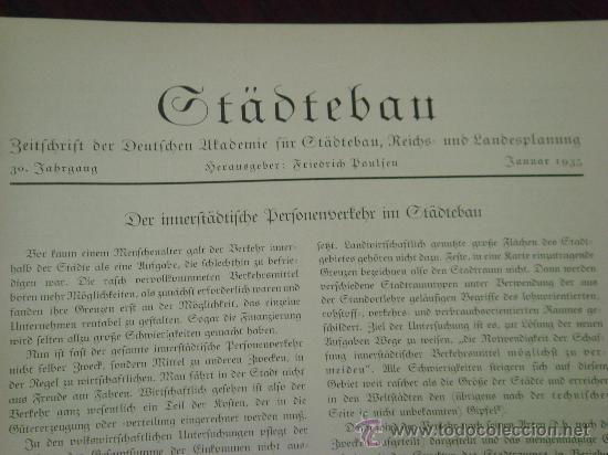 Libros antiguos: MONATSHEFTE FÜR BAUKUNST UND STÄDTEBAU. XVIII. Jahrgang, 1935 - Foto 5 - 35140362