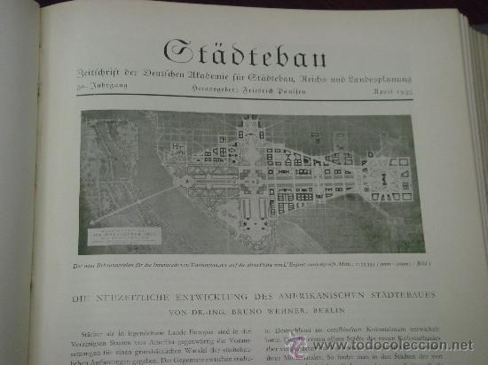 Libros antiguos: MONATSHEFTE FÜR BAUKUNST UND STÄDTEBAU. XVIII. Jahrgang, 1935 - Foto 8 - 35140362