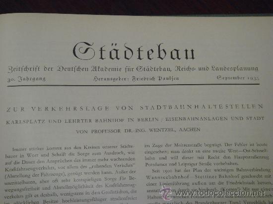 Libros antiguos: MONATSHEFTE FÜR BAUKUNST UND STÄDTEBAU. XVIII. Jahrgang, 1935 - Foto 13 - 35140362