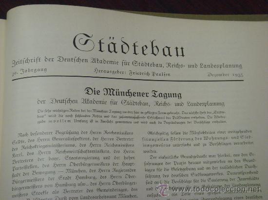 Libros antiguos: MONATSHEFTE FÜR BAUKUNST UND STÄDTEBAU. XVIII. Jahrgang, 1935 - Foto 17 - 35140362