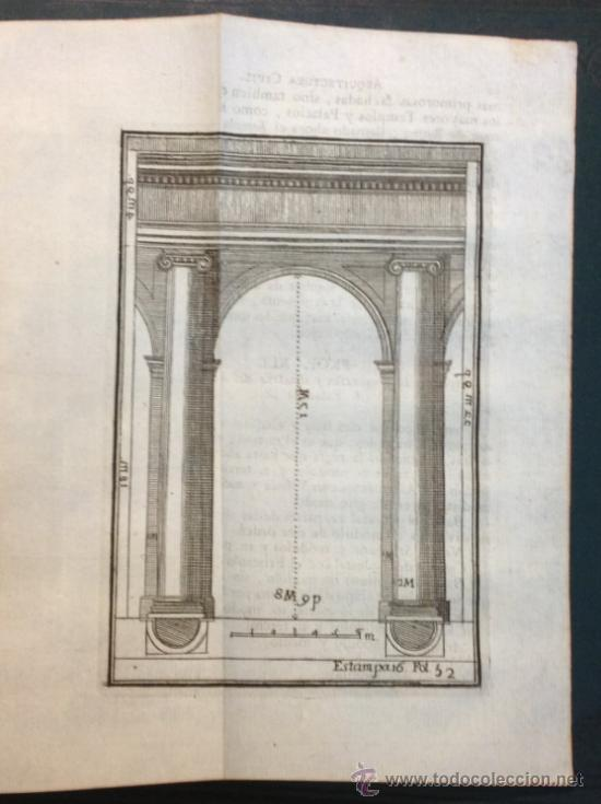 Libros antiguos: ESCUELA DE ARQUITECTURA CIVIL. ATANASIO GENARO BRIZGUZ Y BRU. VALENCIA 1804. 54 LÁMINAS. DESCRIPCIÓN - Foto 4 - 35435551