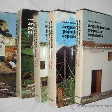 Libros antiguos: PRIMERA EDICION DE LA ARQUITECTURA POPULAR ESPAÑOLA EN CINCO TOMOS CARLOS FLORES. Lote 35659048