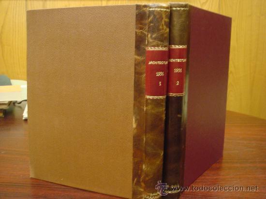ARCHITECTURE,THE PROFESSIONAL ARCHITECTURAL MONTHLY. VOL. LXIII Y LXIV. 1931. 2 TOMOS. (Libros Antiguos, Raros y Curiosos - Bellas artes, ocio y coleccion - Arquitectura)