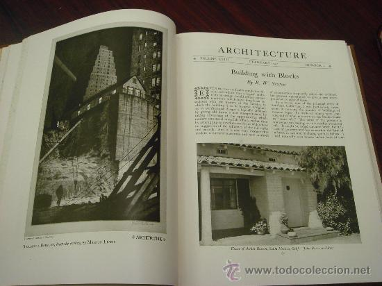 Libros antiguos: ARCHITECTURE,THE PROFESSIONAL ARCHITECTURAL MONTHLY. Vol. LXIII y LXIV. 1931. 2 Tomos. - Foto 4 - 35666396