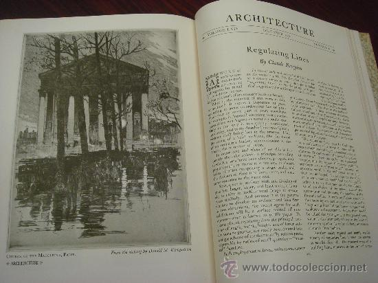 Libros antiguos: ARCHITECTURE,THE PROFESSIONAL ARCHITECTURAL MONTHLY. Vol. LXIII y LXIV. 1931. 2 Tomos. - Foto 12 - 35666396