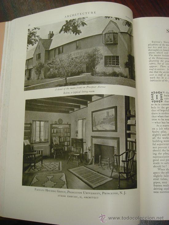 Libros antiguos: ARCHITECTURE,THE PROFESSIONAL ARCHITECTURAL MONTHLY. Vol. LXI y LXII. 1930. 2 Tomos. - Foto 8 - 35666353