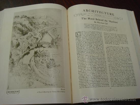 Libros antiguos: ARCHITECTURE,THE PROFESSIONAL ARCHITECTURAL MONTHLY. Vol. LXI y LXII. 1930. 2 Tomos. - Foto 10 - 35666353