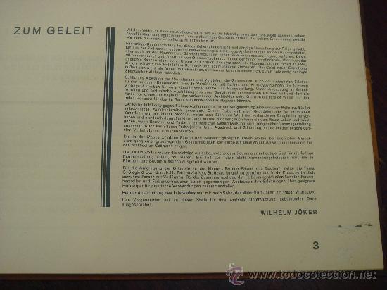 Libros antiguos: FARBIGE RAUME UND BAUTEN. 1929?. - Foto 5 - 35666093