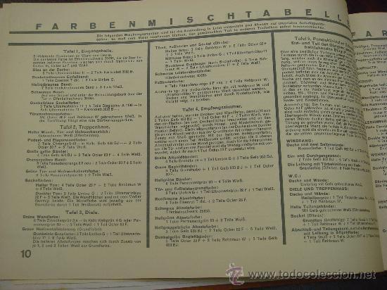 Libros antiguos: FARBIGE RAUME UND BAUTEN. 1929?. - Foto 6 - 35666093