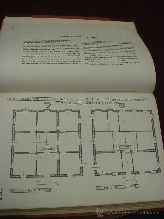Libros antiguos: ELEMENTI DI COMPOSIZIONE DEGLI EDIFICI CIVILI. Vol. 1º. 1935 - Foto 3 - 35666015
