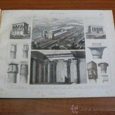 Libros antiguos: 53 LÁMINAS DE ESTILOS ARQUITECTÓNICOS COMO EL EGIPCIO, ROMANO, GRIEGO, CHINO, ÁRABE, HINDÚ, ETC.... Lote 37616229