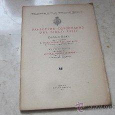 Libros antiguos: PALACETES CORTESANOS DEL SIGLO XVIII - REAL ACADEMIA DE BELLAS ARTES DE SAN FERNANDO 1929. Lote 36638915