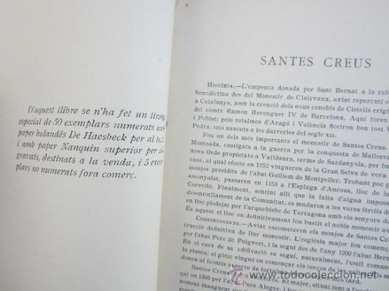 Libros antiguos: catalunya artistica numero 2 - monestir de santes creus 1929 - Foto 3 - 36737337
