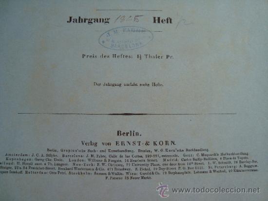 Libros antiguos: 6 GRABADOS DE ARQUITECTURA PUBLICADOS POR Ernst & korn Berlín 1865 - Foto 2 - 37626114