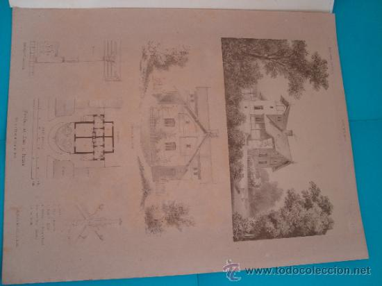 Libros antiguos: 6 GRABADOS DE ARQUITECTURA PUBLICADOS POR Ernst & korn Berlín 1865 - Foto 8 - 37626114