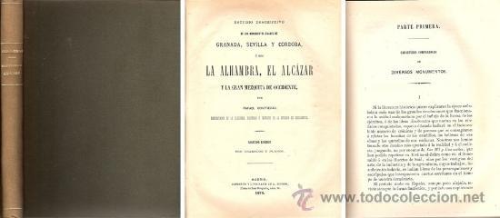 ESTUDIO DESCRIPTIVO MONUMENTOS ÁRABES – AÑO 1878 (Libros Antiguos, Raros y Curiosos - Bellas artes, ocio y coleccion - Arquitectura)