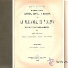 Libros antiguos: ESTUDIO DESCRIPTIVO MONUMENTOS ÁRABES – AÑO 1878. Lote 38233355