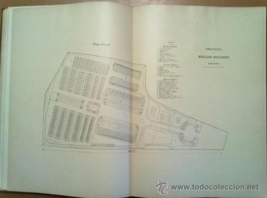 Libros antiguos: PROYECTO DE MERCADO - MATADERO PARA BARCELONA. 1907 PERE FALQUES ARQUITECTO. URBANISMO - Foto 2 - 38533994