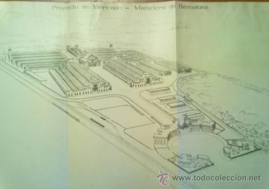 Libros antiguos: PROYECTO DE MERCADO - MATADERO PARA BARCELONA. 1907 PERE FALQUES ARQUITECTO. URBANISMO - Foto 4 - 38533994