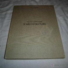 Libros antiguos: ESQUIÉ : TRAITÉ ELEMENTAIRE D'ARCHITECTURE - CARPETA CON 76 GRABADOS. Lote 39824067
