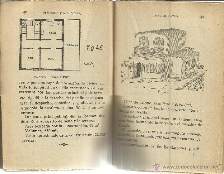 Libros antiguos: 150 MODELOS DE CASAS DE CAMPO. FERNANDO FENOL OLIVER. LIBRERÍA DE BERGUA. MADRID. ANTIGUO - Foto 2 - 39839521