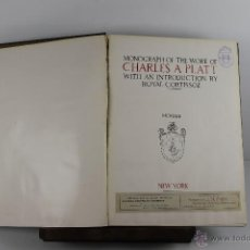 Libros antiguos: 4242- MONOGRAPH OF THE WORK OF CHARLES PLATT. EDIT. THE ARCHITECTURAL BOOK 1913.. Lote 41040118