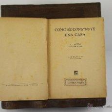 Libros antiguos: 4383- COMO SE CONSTRUYE UNA CASA. J.J. NIETO. LIB. SINTES. 1936. Lote 41301182