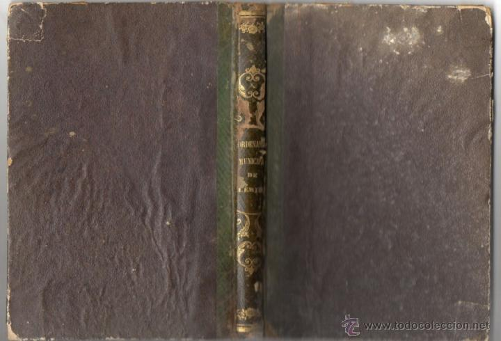 ORDENANZAS MUNICIPALES PARA EL RÉGIMEN DE LA CIUDAD DE LÉRIDA (1866). (Libros Antiguos, Raros y Curiosos - Bellas artes, ocio y coleccion - Arquitectura)