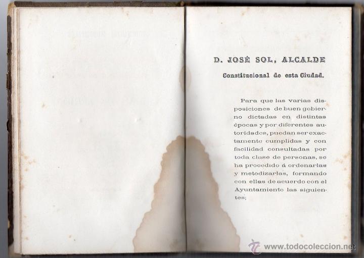 Libros antiguos: ORDENANZAS MUNICIPALES PARA EL RÉGIMEN DE LA CIUDAD DE LÉRIDA (1866). - Foto 3 - 41457562