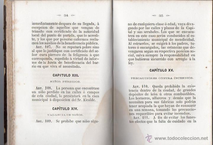 Libros antiguos: ORDENANZAS MUNICIPALES PARA EL RÉGIMEN DE LA CIUDAD DE LÉRIDA (1866). - Foto 5 - 41457562