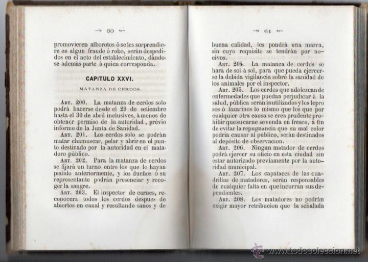 Libros antiguos: ORDENANZAS MUNICIPALES PARA EL RÉGIMEN DE LA CIUDAD DE LÉRIDA (1866). - Foto 6 - 41457562