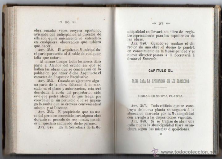 Libros antiguos: ORDENANZAS MUNICIPALES PARA EL RÉGIMEN DE LA CIUDAD DE LÉRIDA (1866). - Foto 8 - 41457562
