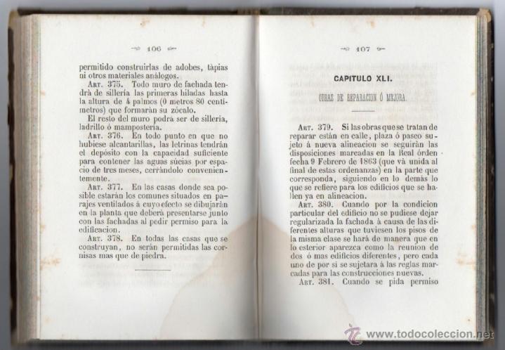 Libros antiguos: ORDENANZAS MUNICIPALES PARA EL RÉGIMEN DE LA CIUDAD DE LÉRIDA (1866). - Foto 10 - 41457562
