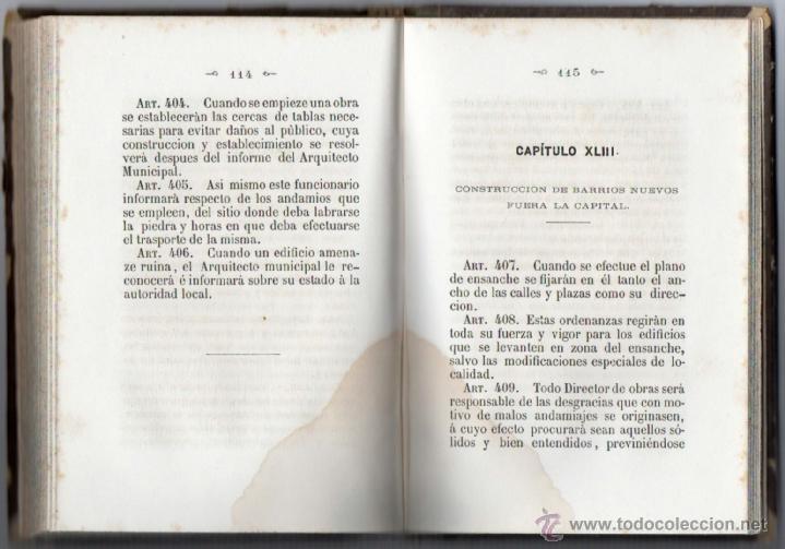 Libros antiguos: ORDENANZAS MUNICIPALES PARA EL RÉGIMEN DE LA CIUDAD DE LÉRIDA (1866). - Foto 11 - 41457562