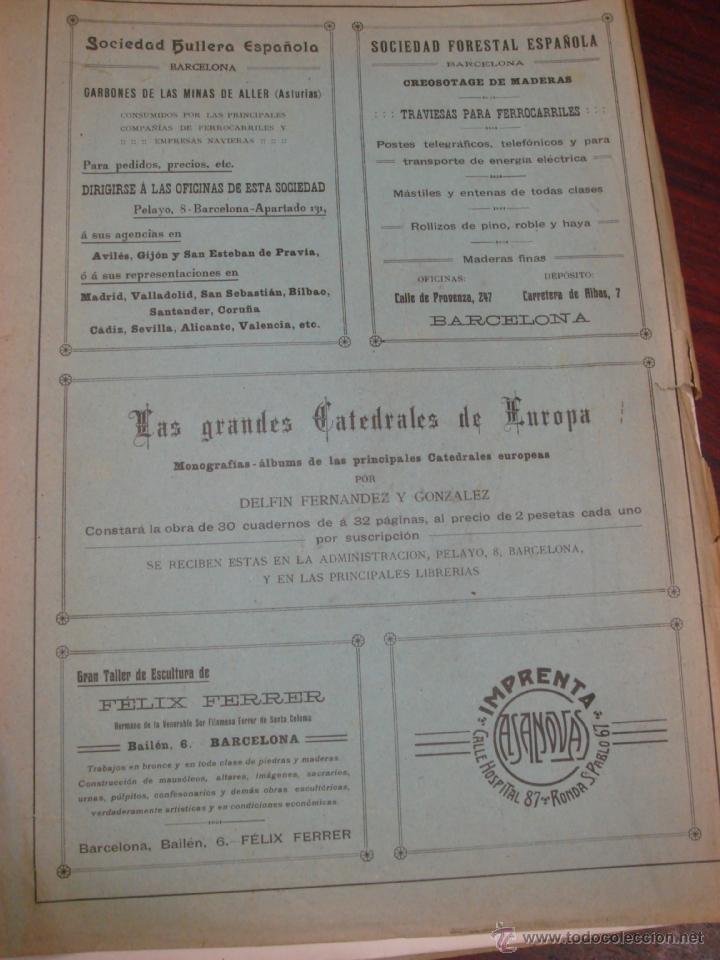 Libros antiguos: LAS GRANDES CATEDRALES DE EUROPA. BURGOS. 1914. DELFIN FERNANDEZ Y GONZALEZ. - Foto 8 - 41642106