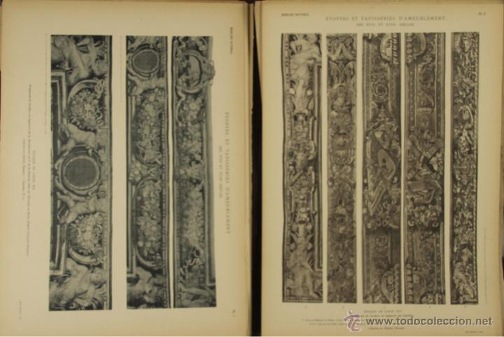 Libros antiguos: 4572- ETOFFES ET TAPISERIES DAMEUBLEMENT DES XVII ET XVIII SIECLES. ERNEST DUMONTHIER. EDIT. MASSIN - Foto 2 - 42278896