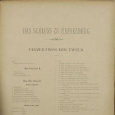 Libros antiguos: 4575- DAS SCHLOSS ZU HEIDELBERG. FRIEDRICH SAUERWEIN. EDIT. HEINRICH KELLER. 1883.. Lote 42280301