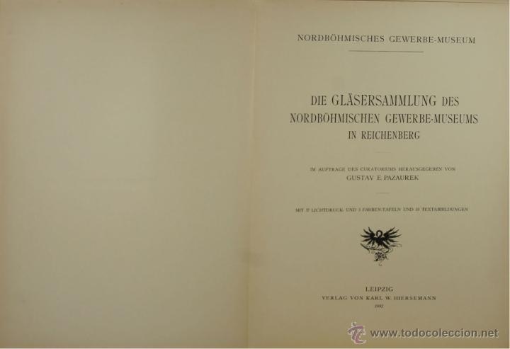 Libros antiguos: 4578. ORNAMENTALE KUNSTGEWERBLICHE SAMMELMAPE. GUSTAV E. PAZAUREK. EDIT. HIERSEMANN 1902. - Foto 2 - 42321601