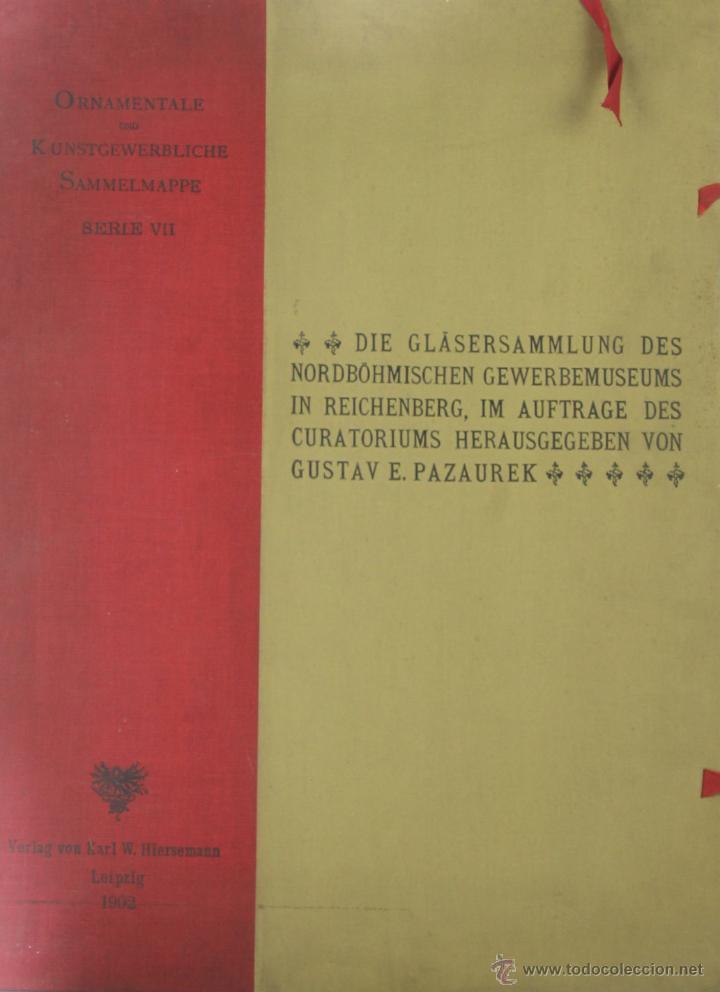 Libros antiguos: 4578. ORNAMENTALE KUNSTGEWERBLICHE SAMMELMAPE. GUSTAV E. PAZAUREK. EDIT. HIERSEMANN 1902. - Foto 7 - 42321601