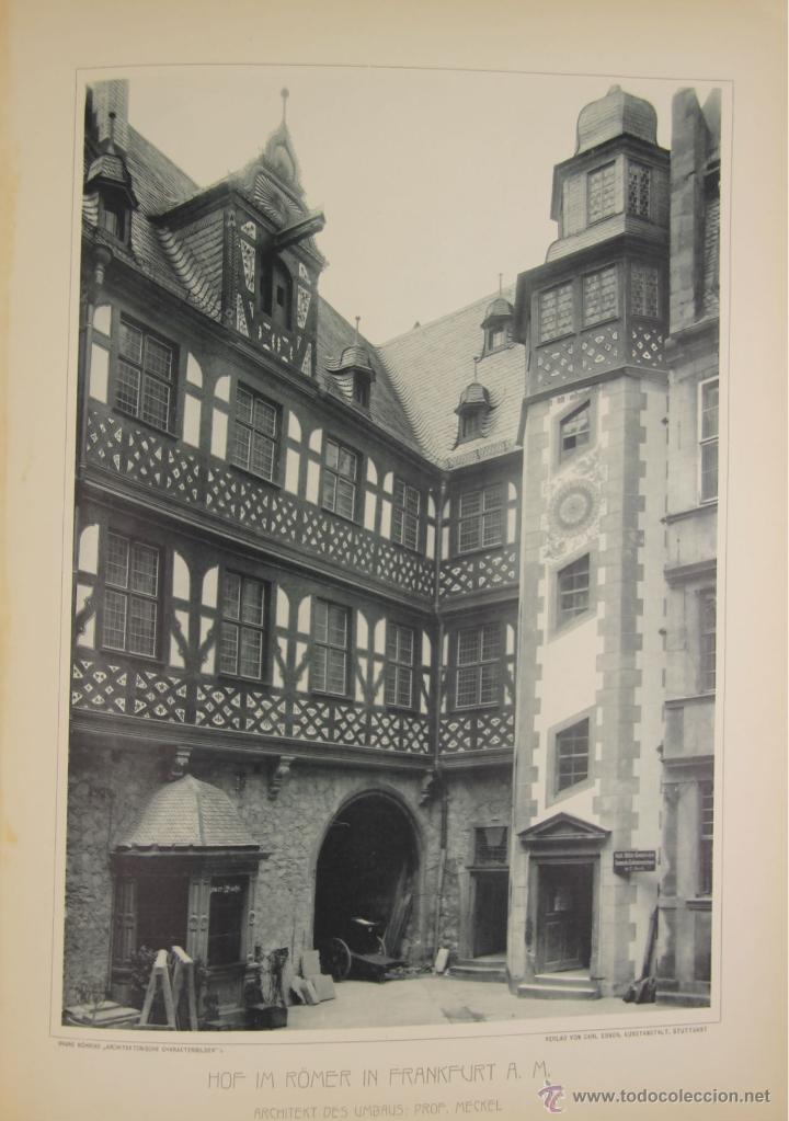 Libros antiguos: 4579. ARCHITEKTONISCHE CHARAKTERBILDER. HERAUSGEGEBEN VON BRUNO. EDIT. CARL EBNER. 1900. - Foto 6 - 42321844