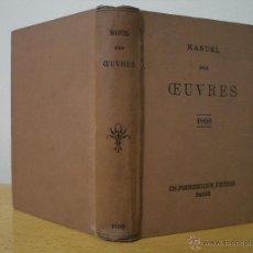 Libros antiguos: MANUEL DES OEUVRES. 1900. PARIS, LIBRAIRIE CH. POUSSIELGUE,. Lote 42441987