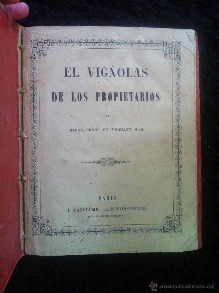 Libros antiguos: EL VIÑOLAS DE LOS PROPIETARIOS- LIBRO DE ARQUITECTURA 1849 - Foto 3 - 42472558